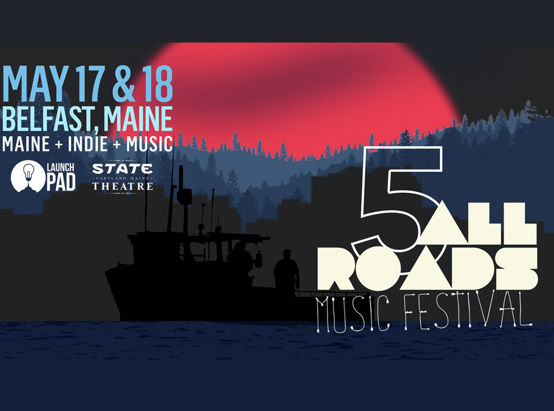 Picture of boat with all roads music festival logo