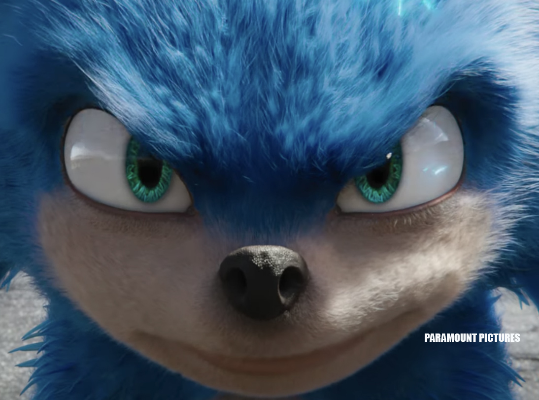 Sonic the hedgehog - face