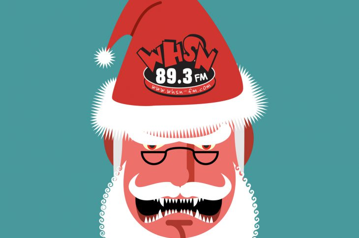 Illustration of scary Santa Claus