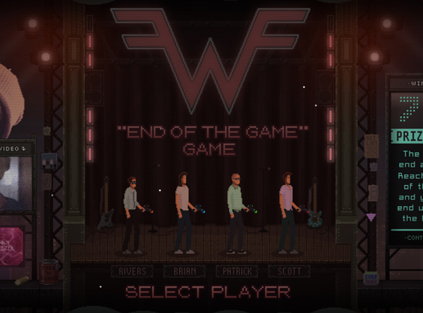 Weezer Game Home Screen