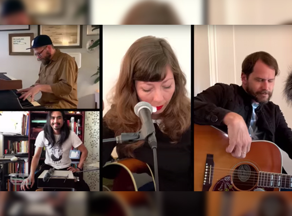 Screen capture of Silversun Pickups performing Don't Know Yet in quarrantine