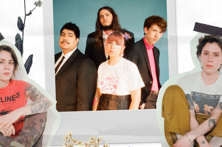 Composite photo of members of Beach Bunny and Tegan and Sara