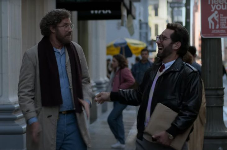 Will Ferrell and Paul Rudd in The Shrink Next Door (two men walking down a city street)